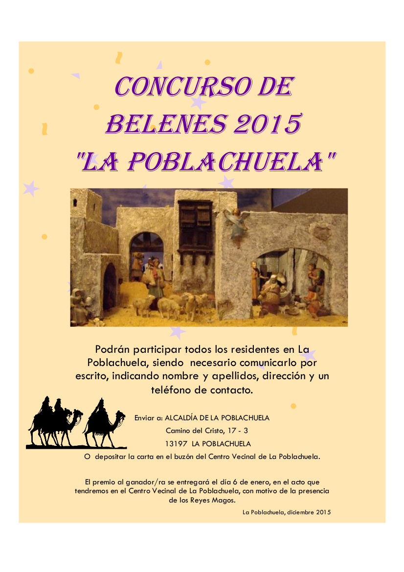 Concurso Belenes 2015